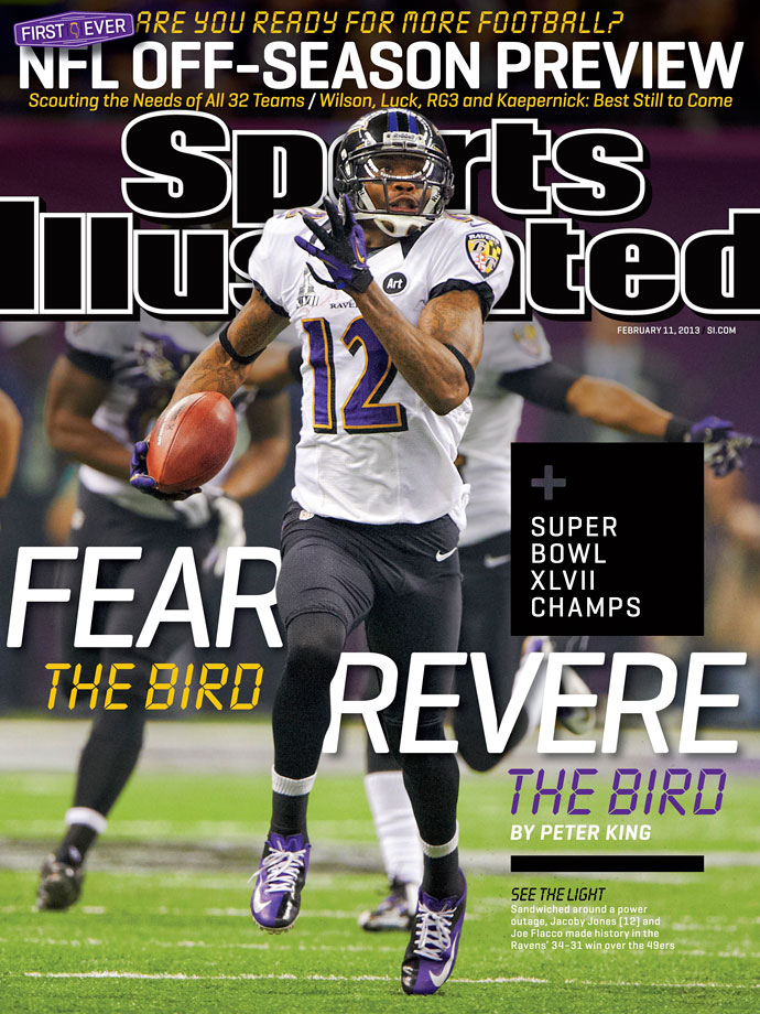 The hero of Super Bowl XLVIII, Ravens receiver/return specialist Jacoby Jones not only scored on a 56-yard reception, but also opened the second half with a 108-yard kickoff return.