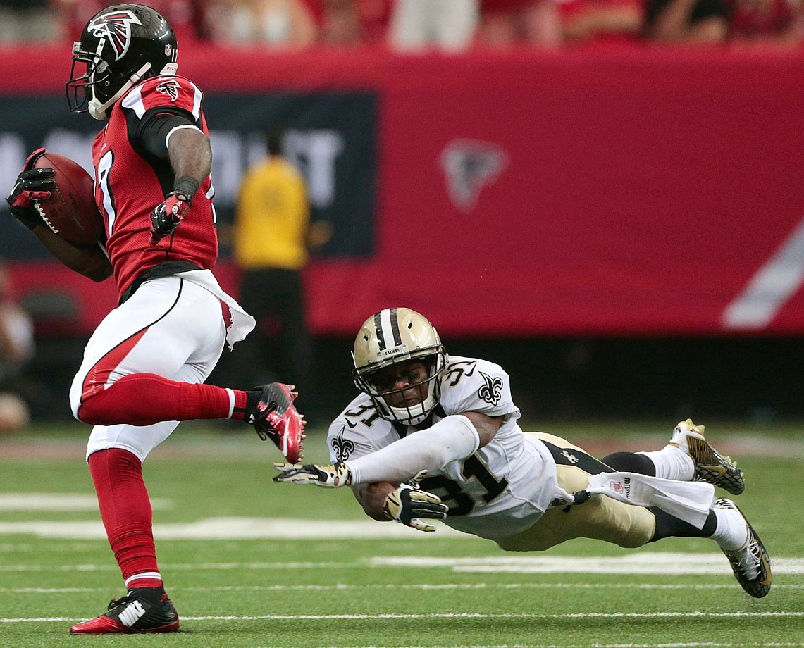 Jairus Byrd earned his reputation as one of the league's best ball-hawking safeties during his time in Buffalo. Before the 2014 season, he signed a six-year deal with the Saints with $28 million guaranteed. His first year in New Orleans ended quickly, as Byrd tore a knee ligament after only playing in four games, hardly justifying the salary cap gymnastics required by the Saints front office to sign Byrd.