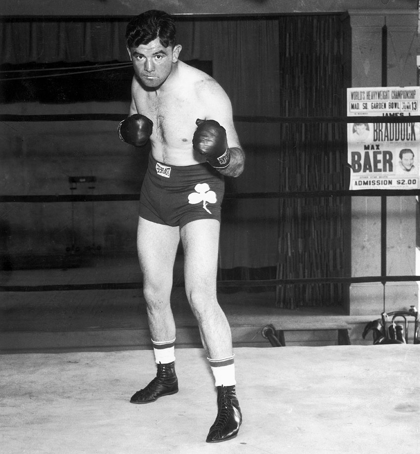 "A streak of 20 losses in 33 fights in the midst of the Great Depression forced Braddock onto welfare and into a job as a longshoreman. Braddock's boxing fortunes turned around in 1934 as he embarked on a remarkable comeback, stunning Max Baer in June 1935 to win the world heavyweight title in a unanimous decision. His incredible turnaround was captured in the 2005 film ""Cinderella Man."""