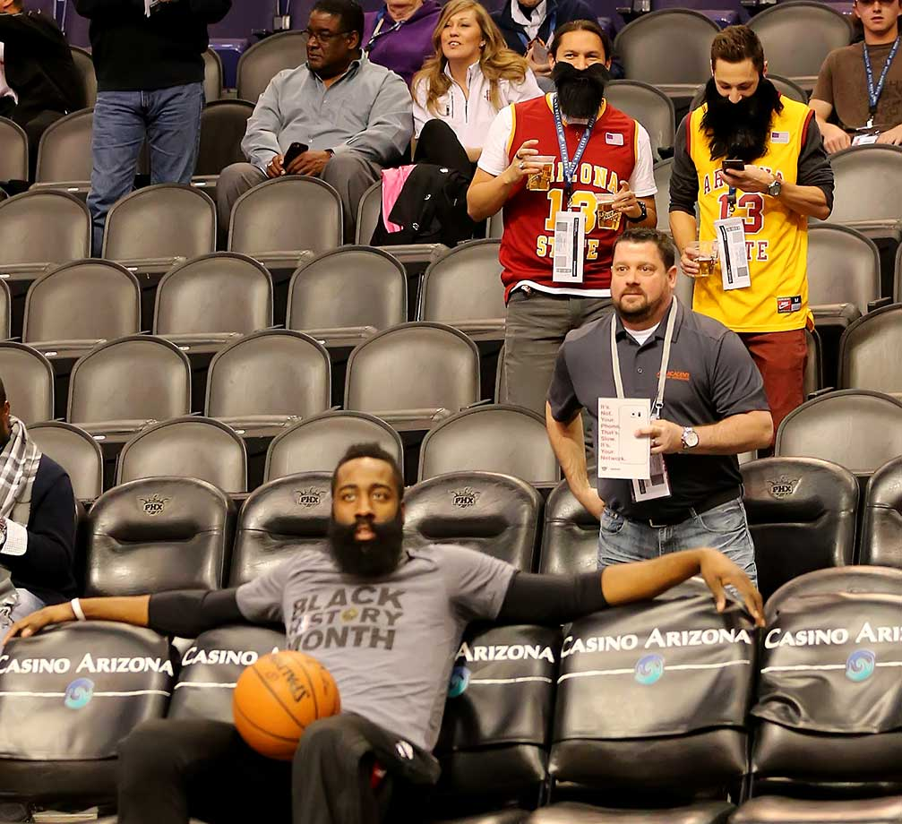 A pair of James Harden fans.