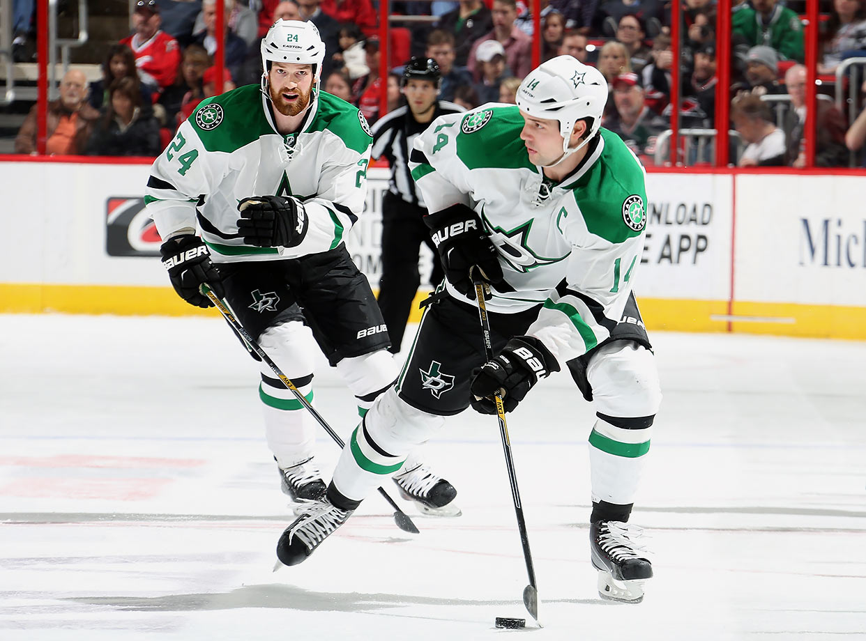 Jamie (right), the NHL's 2014-15 scoring champion, was a fifth round pick by the Stars in 2007. At 26, he's now a two-time All-Star and one of the team's feared offensive weapons. Older brother Jordie was signed by Dallas as undrafted free agent in Oct. 2010 and worked his way out of the AHL to become a valuable depth defenseman with the Stars.
