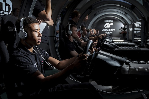 Jann Mardenborough trains at the GT Academy