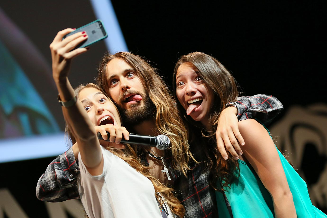 Cannes laughter: Master thespian Jared Leto attended A Conversation With Benjamin Palmer at the famed film festival in France.