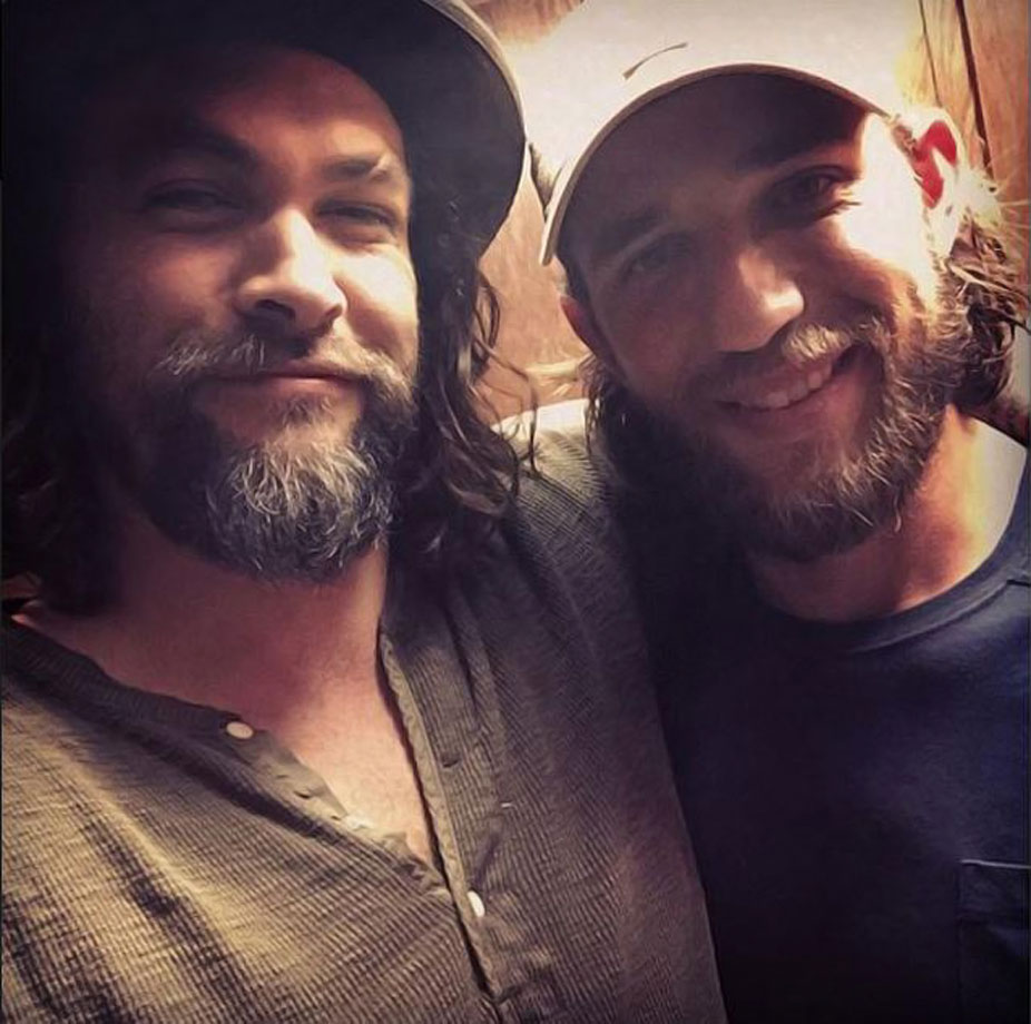 Jason Momoa hung out with Madison Bumgarner in early Feb. 2015, before MadBum was required to report for spring training.
