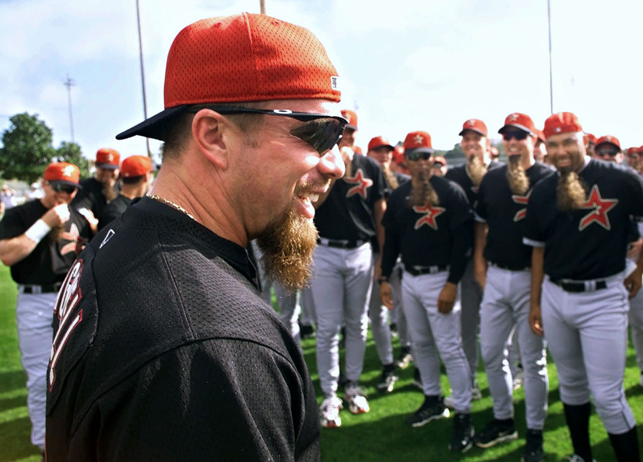 They say imitation is the sincerest form of flattery, so Jeff Bagwell's fellow Astros obviously liked his similarity to a very old billy goat
