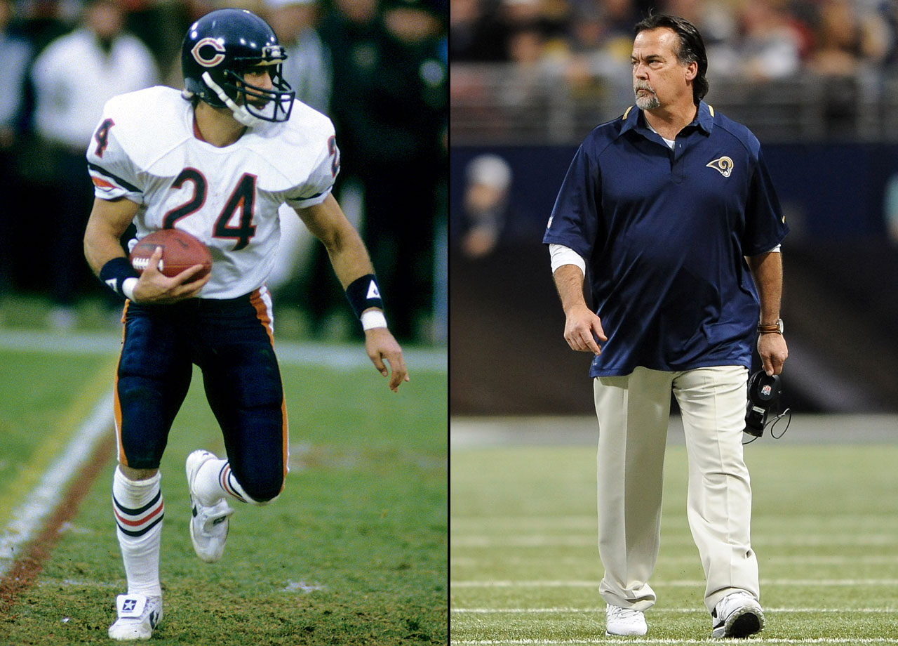 Jeff Fisher appeared primarily as a return specialist in four seasons with the Bears.  In 1983, then-Eagles linebacker Bill Cowher broke Fisher's leg, causing him to miss most of the season.  An ankle injury prematurely ended Fisher's playing career in '85, but he stayed with Chicago as a defensive assistant under Buddy Ryan. Fisher eventually served as the Houston/Tennessee Oilers/Titans head coach from 1994-2010.  After a season off in 2011, Fisher became the Rams head coach in 2012.