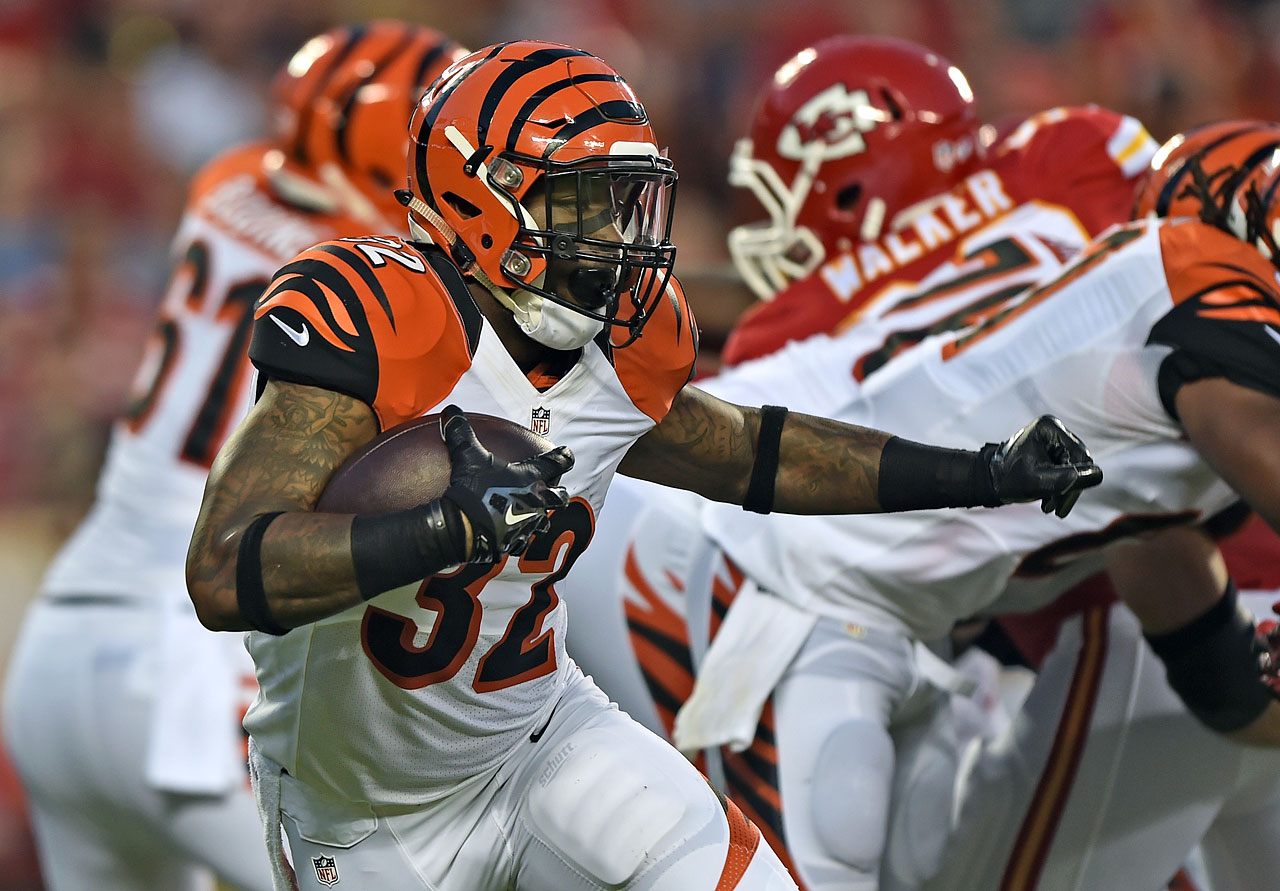 Hill is the new power back to compliment Giovani Bernard in Cincinnati. The second-round rookie should play a role similar to BenJarvus Green-Ellis last season but with significantly more upside.