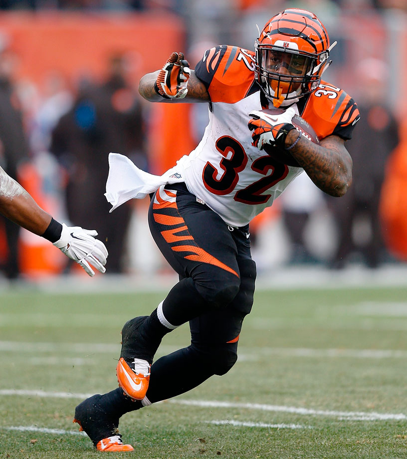 Hill took over as the primary back in Cincinnati this year, and that should carry over into 2015. Even with Giovani Bernard stealing touches, Hill can be a true workhorse.