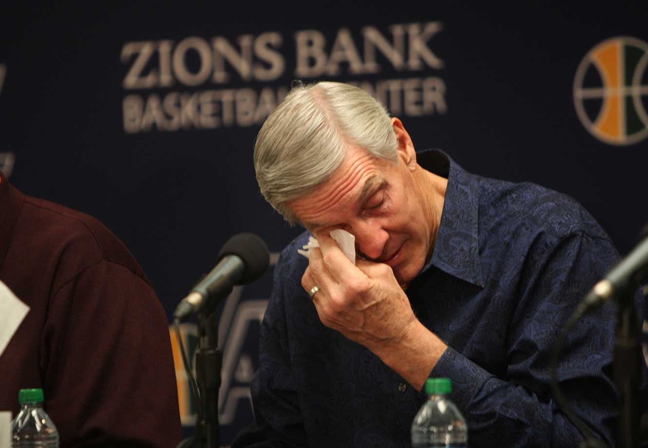 Hall of Famer Jerry Sloan stepped down after 23 seasons and 1,127 wins at the helm of the Utah Jazz, saying he simply ran out of energy to coach anymore. Sloan had just recently signed a one-year contract extension to carry him through the 2011-12 season.