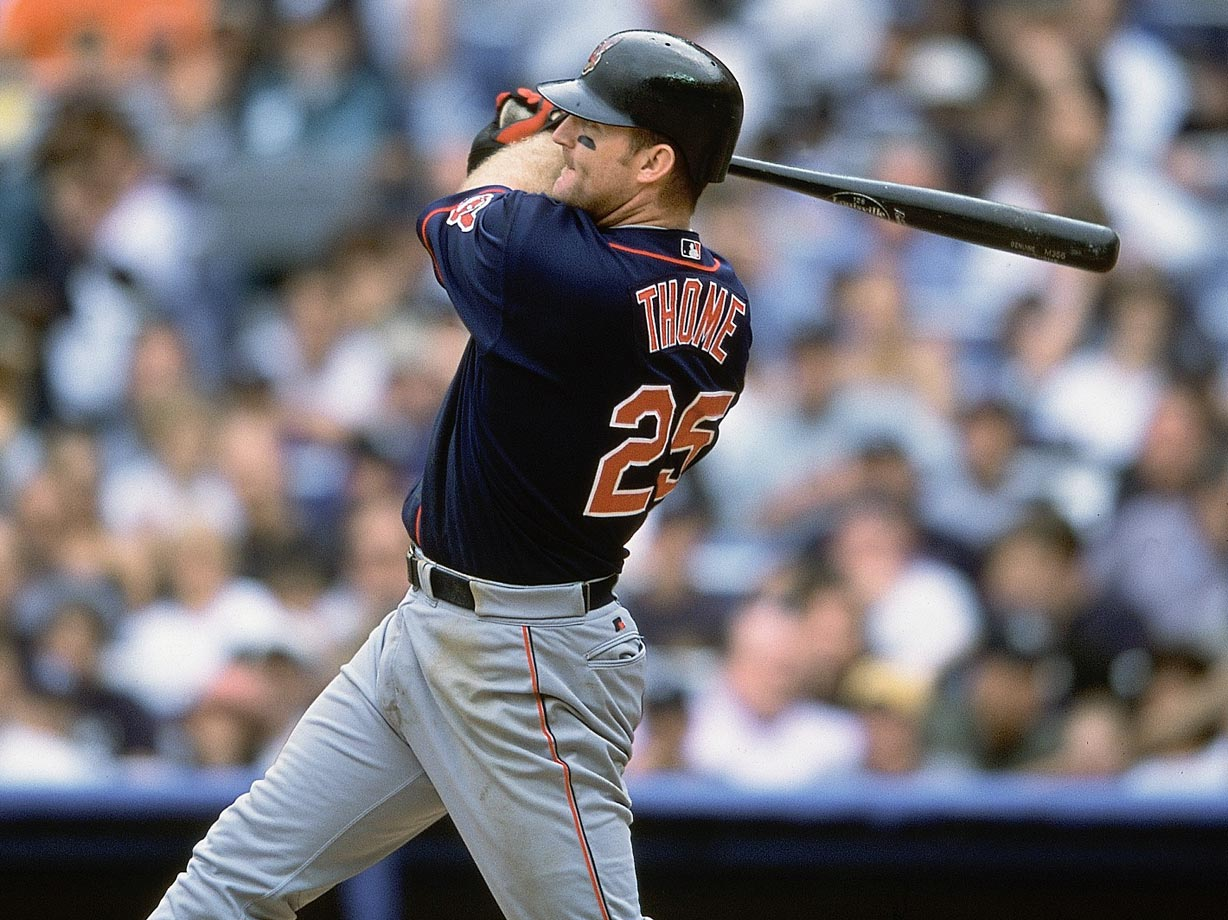 While Jim Thome may have spent time playing for five teams thus far in his career, it was with the team that drafted him — the Indians — that the lefty slugger made his name. Thome, who hit 337 home runs for Cleveland, ranks seventh all-time in career homers with 612.