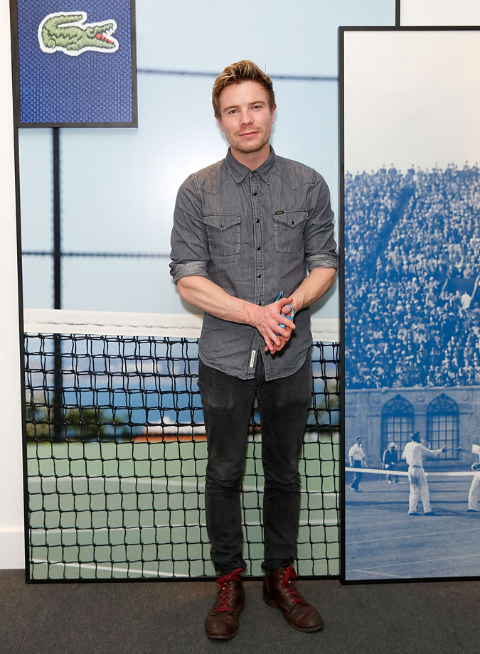 Joe Dempsie attends the Lacoste VIP Lounge at the ATP World Finals 2014 at 02 Arena on Nov. 16, 2014 in London.