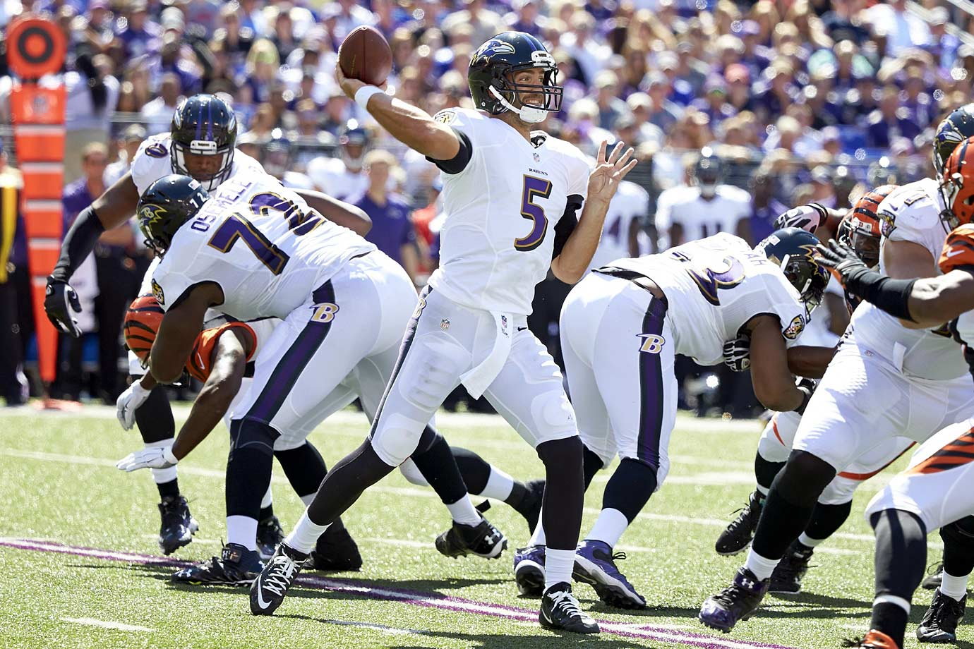 Lost in all the silly surface talk about whether Flacco is elite or not (an argument that should have been put to bed after Super Bowl XLVII) is the fact that two years after the Ravens won it all on the back of his 11–0 touchdown-to-interception differential in the playoffs, Flacco had his best overall season in 2014 following a disappointing 2013 season.