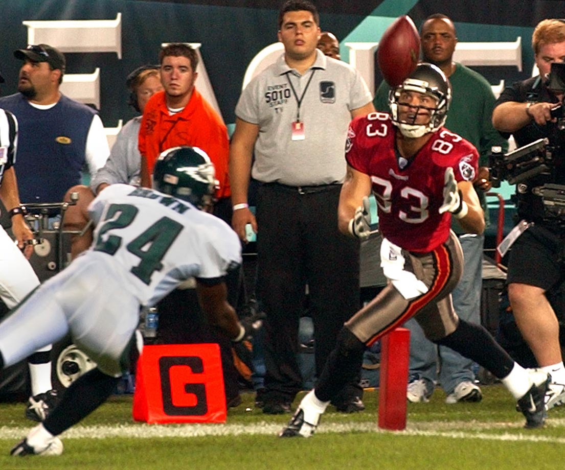 2003: Joe Jurevicous's seven-yard TD catch in which he tipped the ball to himself vs. the Eagles.
