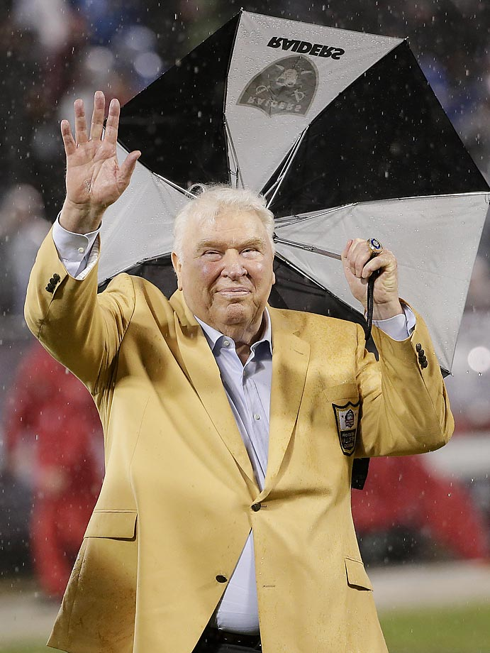 John Madden practicing for a performance in Mary Poppins, perhaps.