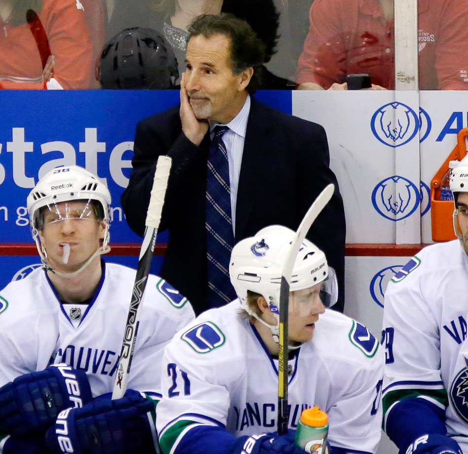 After completing only one year of a five-year deal, John Tortorella was fired on May 1 after his first season with Vancouver.  The Canucks missed the playoffs after going 36-35-11, finishing fifth in the Pacific Division. Tortorella was also suspended for 15 days earlier in the season when he charged the Calgary Flames locker room during a game.