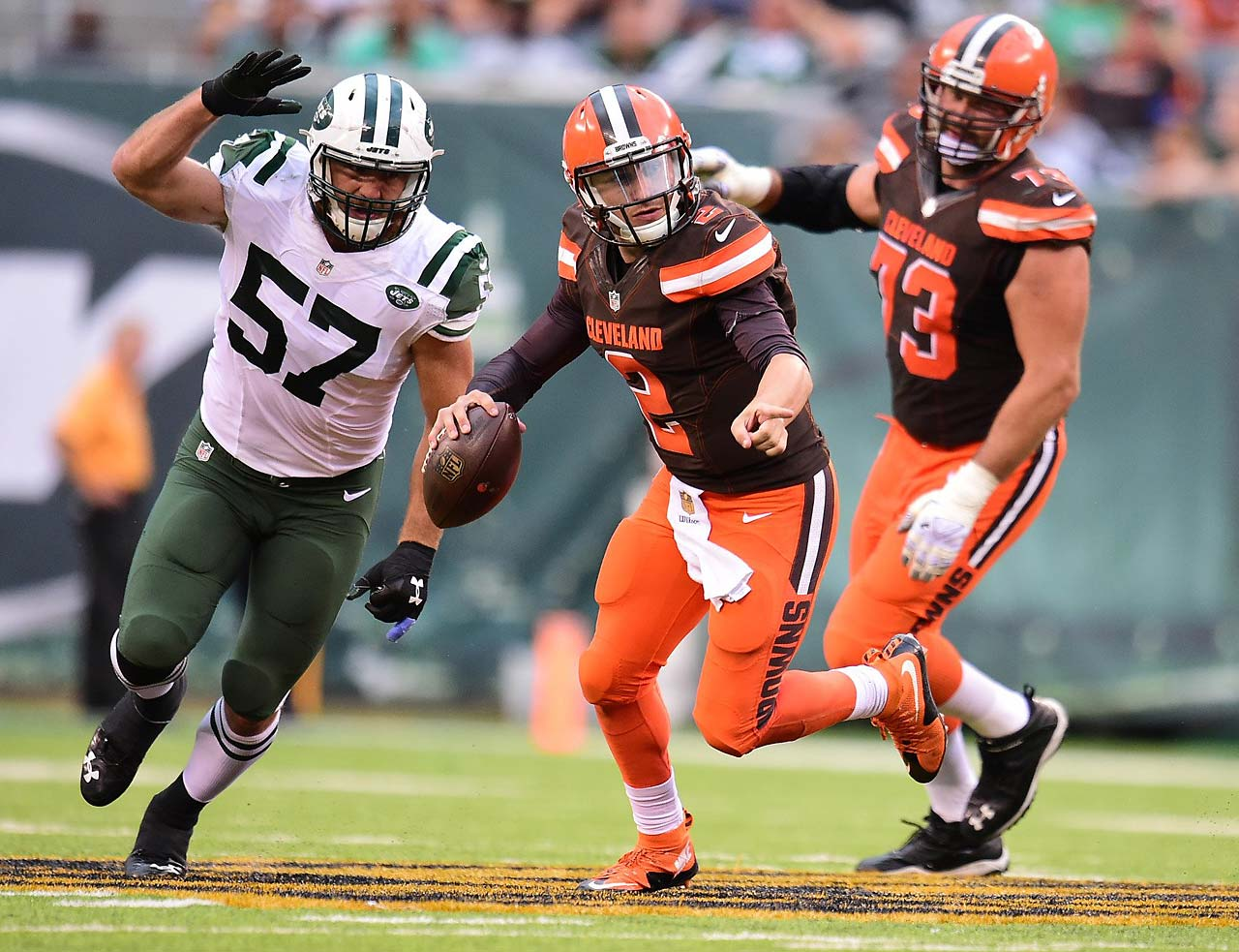 Johnny Manziel was pressed into duty in Week 1 and played an uneven game against the Jets.