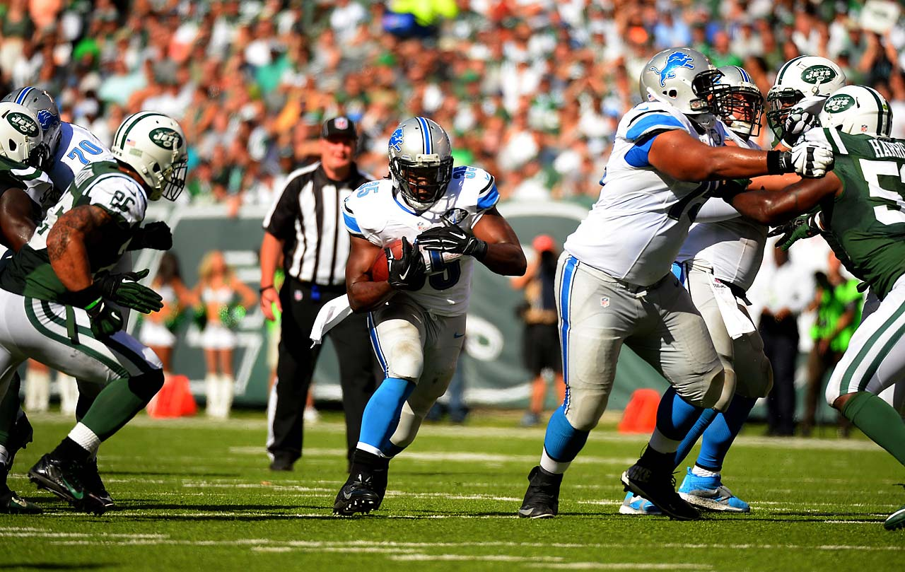 Joique Bell suffered a concussion in the third quarter against the New York Jets.