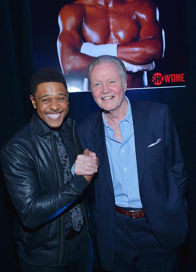 Actors Pooch Hall and Jon Voight attend the VIP pre-fight party at Floyd Mayweather  vs. Canelo Alvarez.