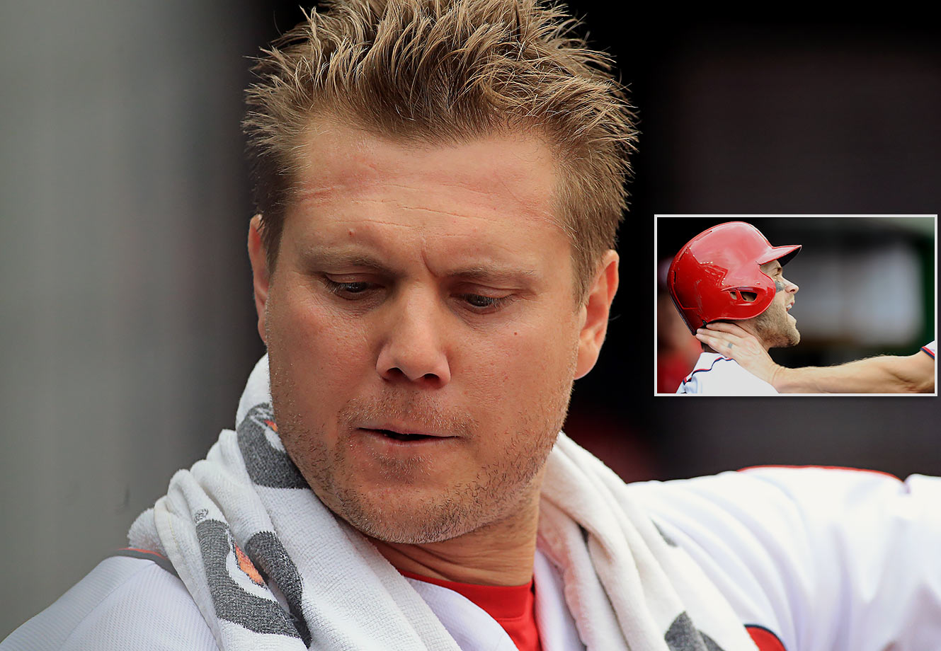 IK Enemkpali got released for punching Geno Smith, so you figure choking a co-worker would also be a fireable offense. Or not, as we learned from Jonathan Papelbon. Sure Papelbon got suspended for a few games after wringing Bryce Harper's neck, but he'll be back in Washington next season—barring a trade, of course.