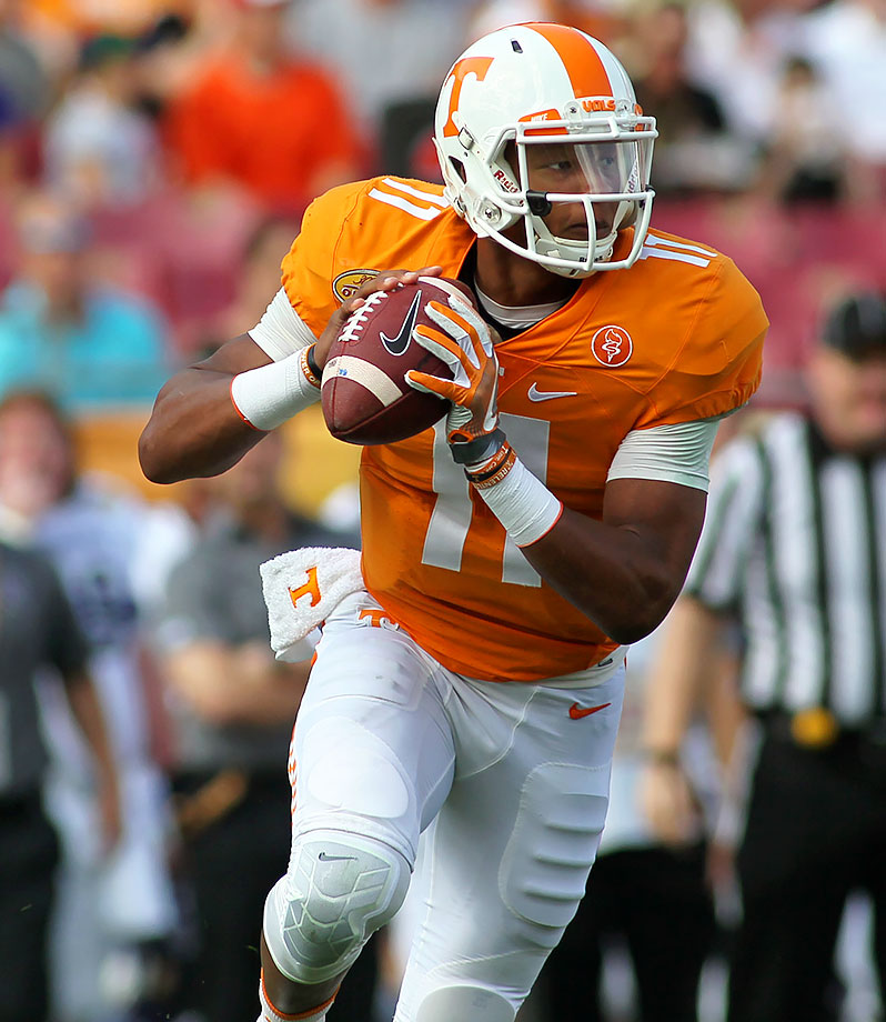 Dobbs finished fifth in the SEC in passing yards last fall in his first season as the full-time starter. He threw for 2,291 yards and 15 touchdowns while also rushing for 671 yards and another 11 scores.