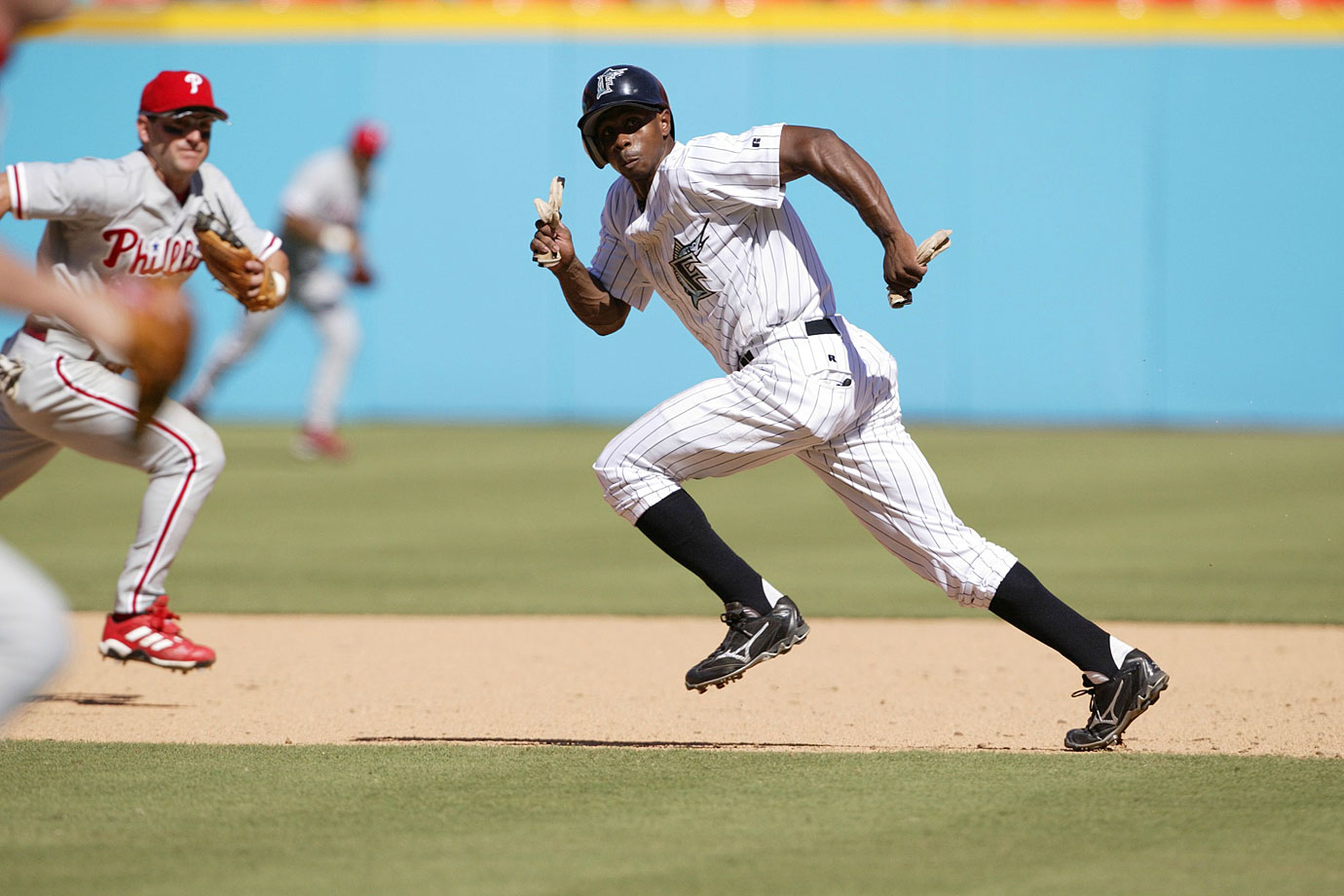 Juan Pierre's 14-year World Series-winning career ended with his retirement on Feb. 27. Though the outfielder played for six teams on his way to 2,217 hits and 614 stolen bases, he'll be best remembered for his role on the Florida Marlins' 2003 title-winning squad. That season, Pierre finished a career-best 10th in MVP voting, as he hit .305 and led the league with 65 stolen bases.