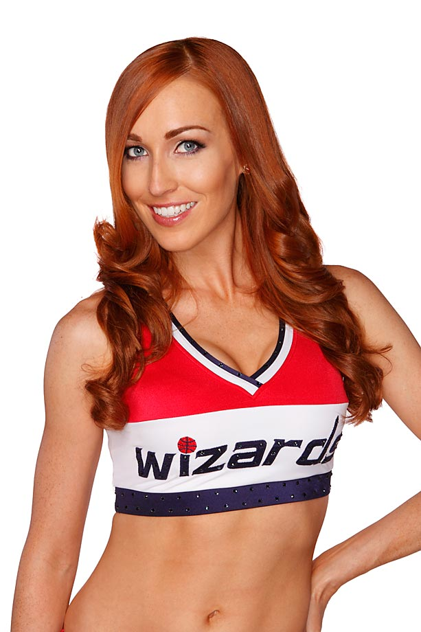 Julia is in her fourth season as a Washington Wizards dancer and her second as captain. She majored in marine biology at Duke University and received her master's degree in environmental science.