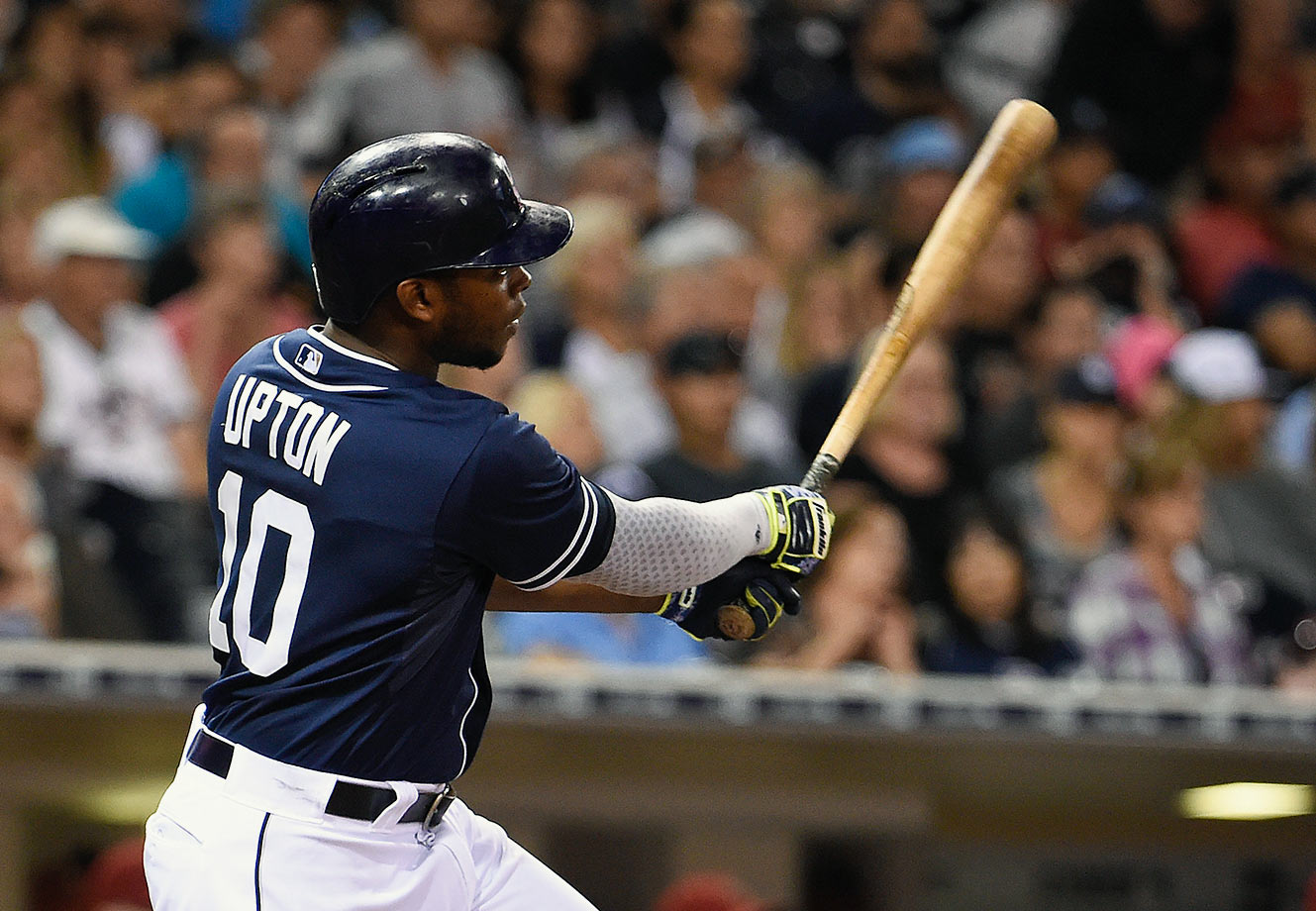 Upton, 28, signed with the Detroit Tigers on Jan. 18, 2016. He spent last season with the San Diego Padres after playing two years with the Atlanta Braves and six with the Arizona Diamondbacks. Upton earned his third All-Star appearance in 2015, batting .251 with 26 home runs and 81 RBIs. He also stole 19 bases, his most since 2011.