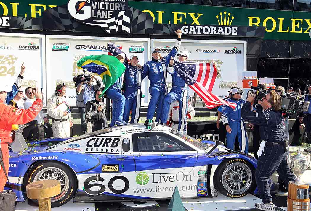 Wilson and former teammate A.J. Allmendinger, who was also a good friend, joined with Oswaldo Negri and Mark Patterson to win the Rolex 24 Hours of Daytona in 2012.