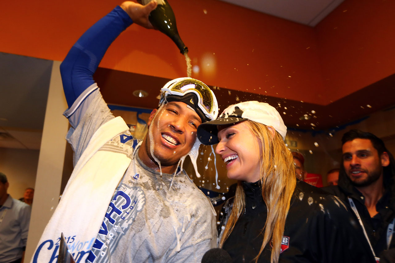 Kansas City Royals celebrate their World Series victory over the New York Mets in five games.