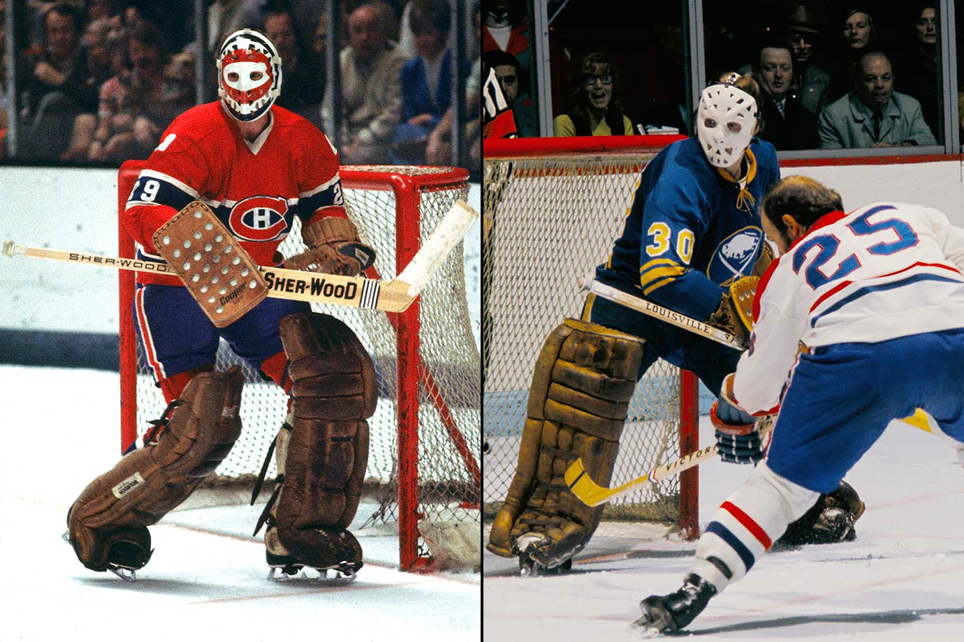 Ken's achievements—five Vezinas, a Conn Smythe, the Calder, six Stanley Cups—during an NHL career that lasted only eight years are the stuff of legend and the Hall of Fame. Older brother Dave's pro career began as an emergency goalie with the Rangers in 1962. He later became Hall of Famer Glenn Hall's backup with Chicago. As a Sabre, he faced Ken in a 1971 game (Montreal won, 5-2) and later played in the 1974 NHL All-Star Game before jumping to Edmonton of the WHA.