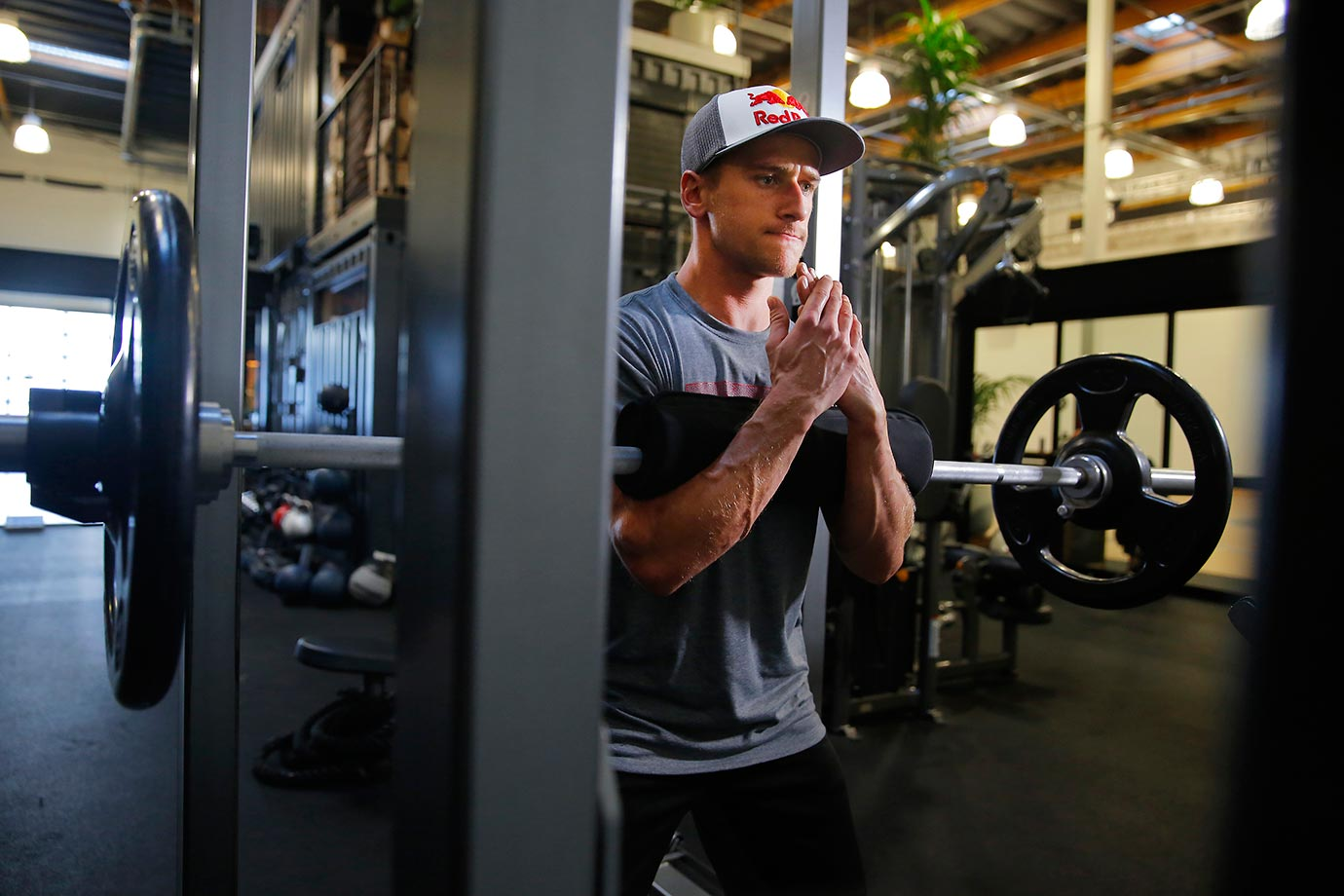 Weight training is a huge part of Ken Roczen's routine.