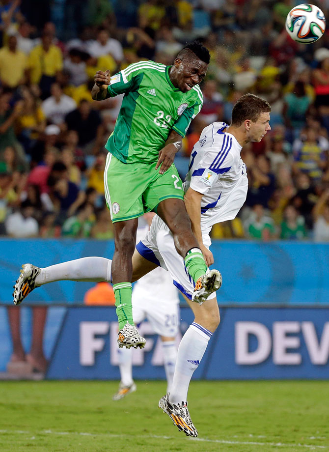 Omeruo, just 20, was a star of Nigeria's Cup of Nations campaign in South Africa last year, and he has continued his form at this tournament despite the injury to his regular partner Godfrey Oboabona. The Middlesbrough defender made 3.7 tackles per game and won 2.3 aerial duels, showing a fine understanding of when to attack the ball and when to hold his position.