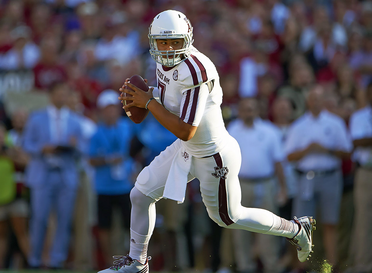 Hill made headlines two seasons ago when he threw for a Texas A&M-record 511 yards in his first start against South Carolina, igniting a surprise Heisman campaign and a plethora of nicknames. But, the rest of his season didn't go as planned, and he ended up getting benched and then suspended before transferring to TCU. After sitting out last year, Hill will compete with sophomore Foster Sawyer for the right to replace Trevone Boykin. Hill looks like the front-runner for the spot.