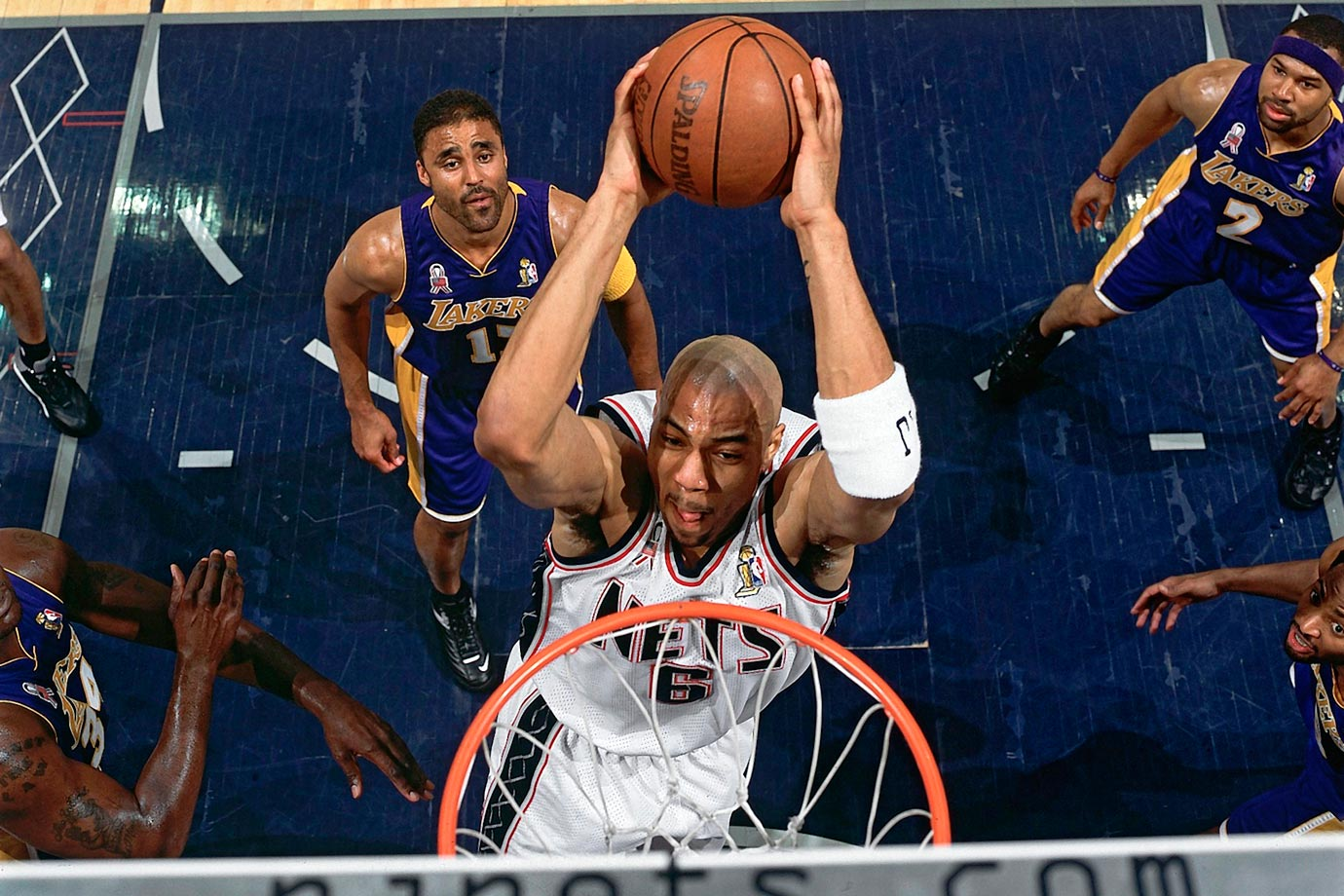 Pegged to draft seventh after a 31-51 season, the Nets instead cashed in on their 4.4% chance of winning the lottery. New Jersey picked forward Kenyon Martin, who proved to be a key part of back-to-back Finals teams in 2002-03 before being shipped to Denver as part of a sign-and-trade deal in 2004.