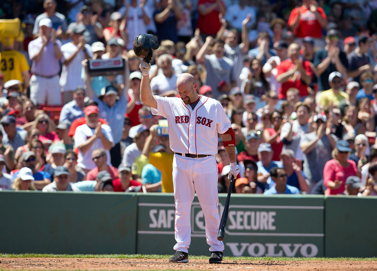 The three-time All-Star infielder announced his retirement on Oct. 30. Youkilis, 35, played this past season in Japan before chronic plantar fasciitis ended his season early. He played 10 major league seasons, including the first eight-and-a-half with the Boston Red Sox. Youkilis was a rookie on the 2004 Red Sox team that ended the team's 86-drought between World Series victories. He started at first base for the Red Sox when they won the 2007 World Series. From 2008 through 2011, he made three of four All-Star Games. In 2008, Youkilis finished third in AL MVP voting after hitting .312 with 29 home runs and 115 RBI.