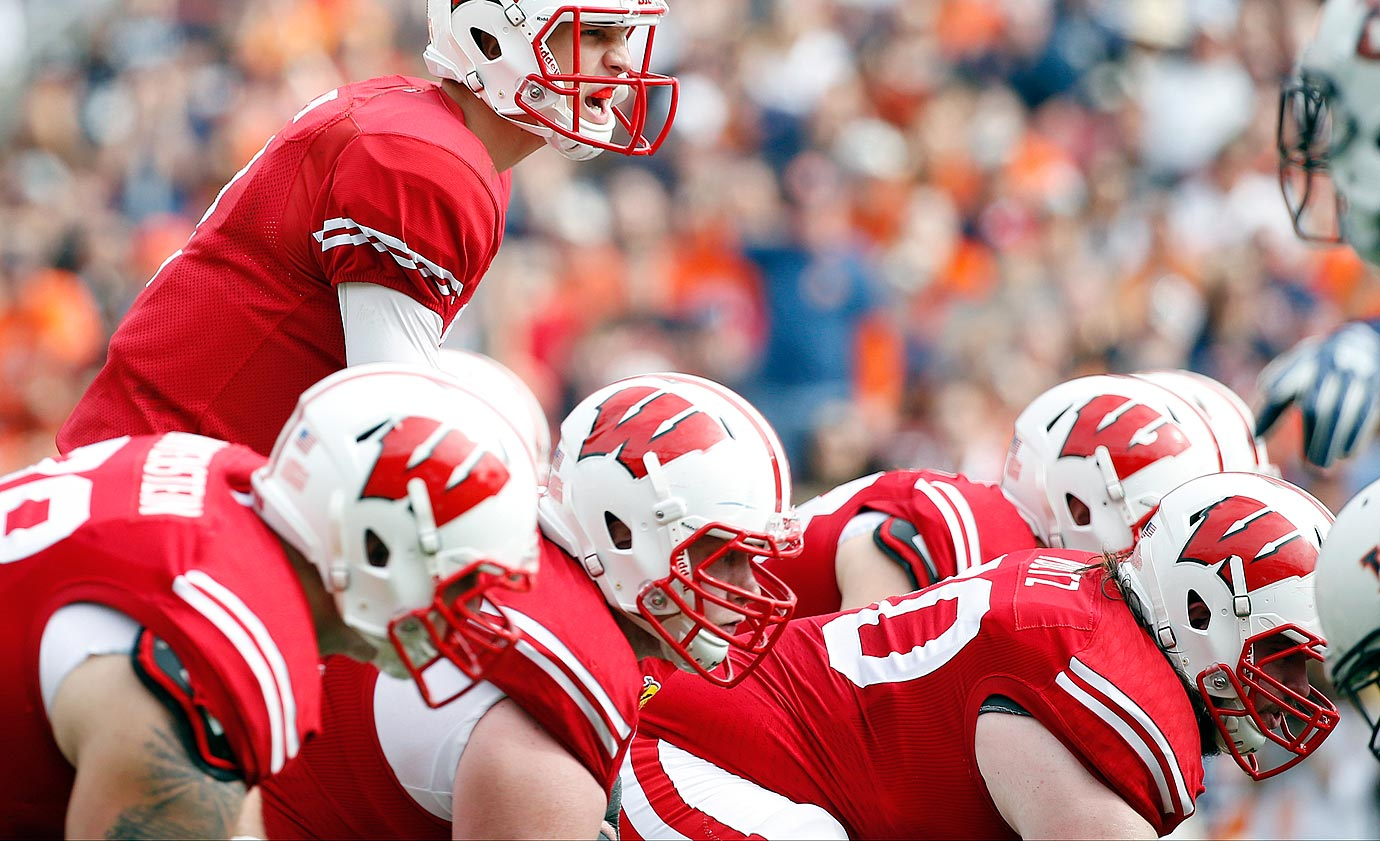 Despite a leg injury, the 6-foot-5, 319-pounder helped the Badgers rush for 400 yards in the Outback Bowl.