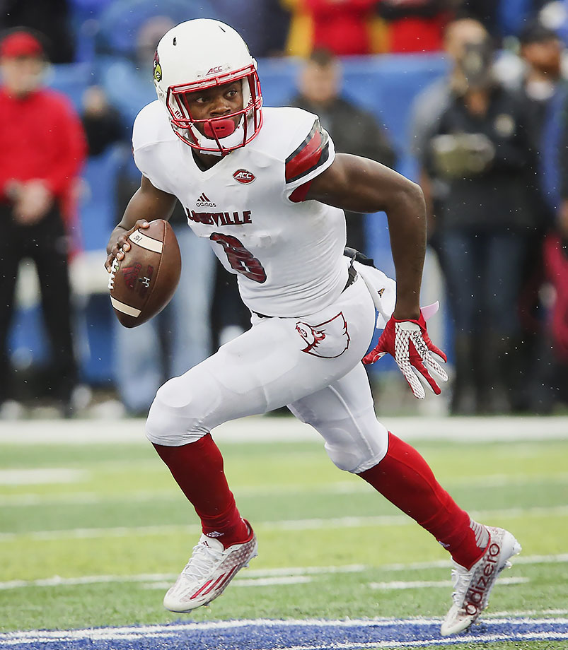 Jackson entered elite territory in Louisville's Music City Bowl win over Texas A&M when he rushed for 226 yards, the second-most by a quarterback in FBS bowl history. The dual-threat quarterback finished the season with 1,840 yards passing, 960 yards rushing and 23 touchdowns.