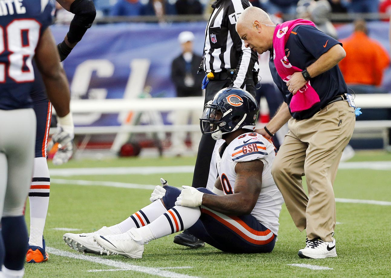 The Bears signed Lamarr Houston (five years, $15 million in guarantees) before the 2014 season as a potential replacement for Julius Peppers. Instead, Houston was a contributor to a disastrous Chicago defense. After going sack-less for half the season, Houston finally registered his first sack during a blowout loss at the hands of the Patriots—and tore his ACL while celebrating it.