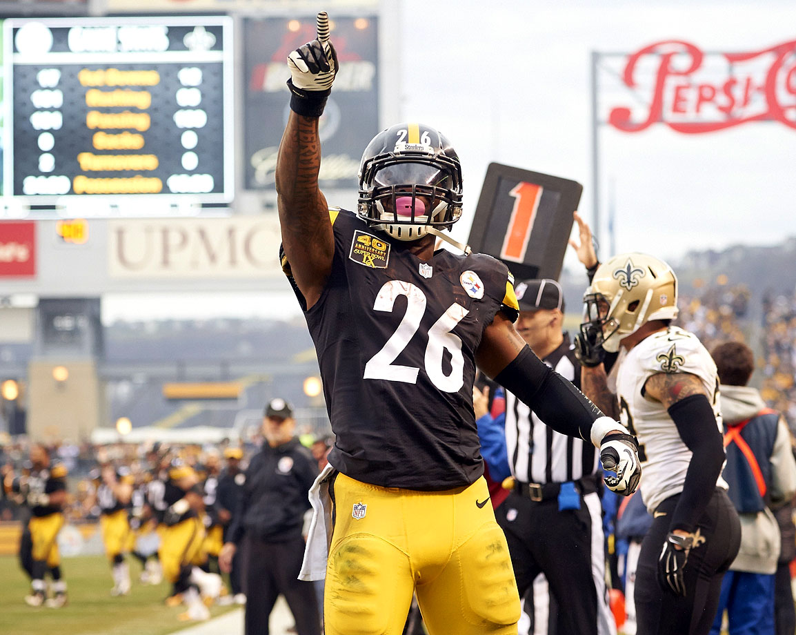 Bell, who topped 2,000 total yards this season, will be just 23 years old at the start of next season. He is the engine of the Pittsburgh offense.