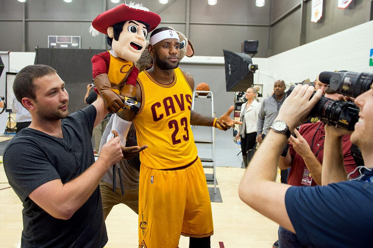 LeBron James at Media Day.