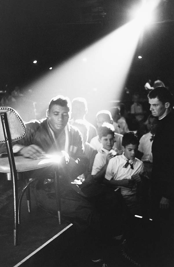 Floyd Patterson with fans before his fight vs. Muhammad Ali at the Las Vegas Convention Center.