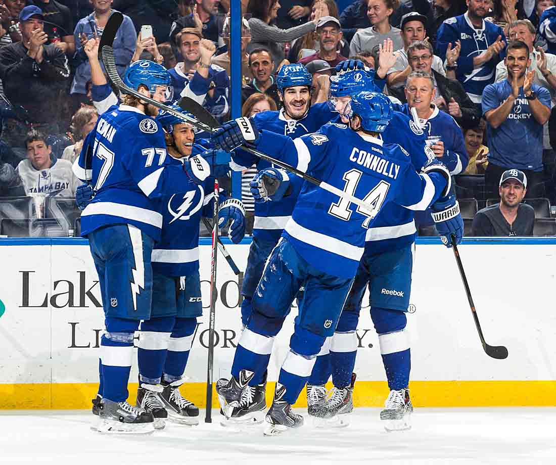 At 36-16-6, the Lightning sit atop the Atlantic Division and the Eastern Conference with 74 points, though it is the last day they'll occupy that spot alone. They spend the remainder of the season either tied with or attempting to catch up to the Canadiens.