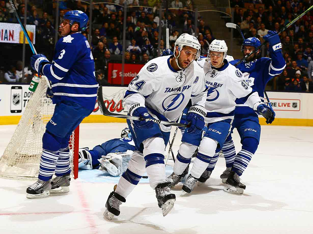 Ryan Callahan scores the lone goal in a 3-1 loss to the Maple Leafs, his first-period tally the team's 247th of the season, which breaks their franchise record set in 2005-06. The NHL's best offense will finish the season with a league-high 259 goals, averaging 3.16 per game.