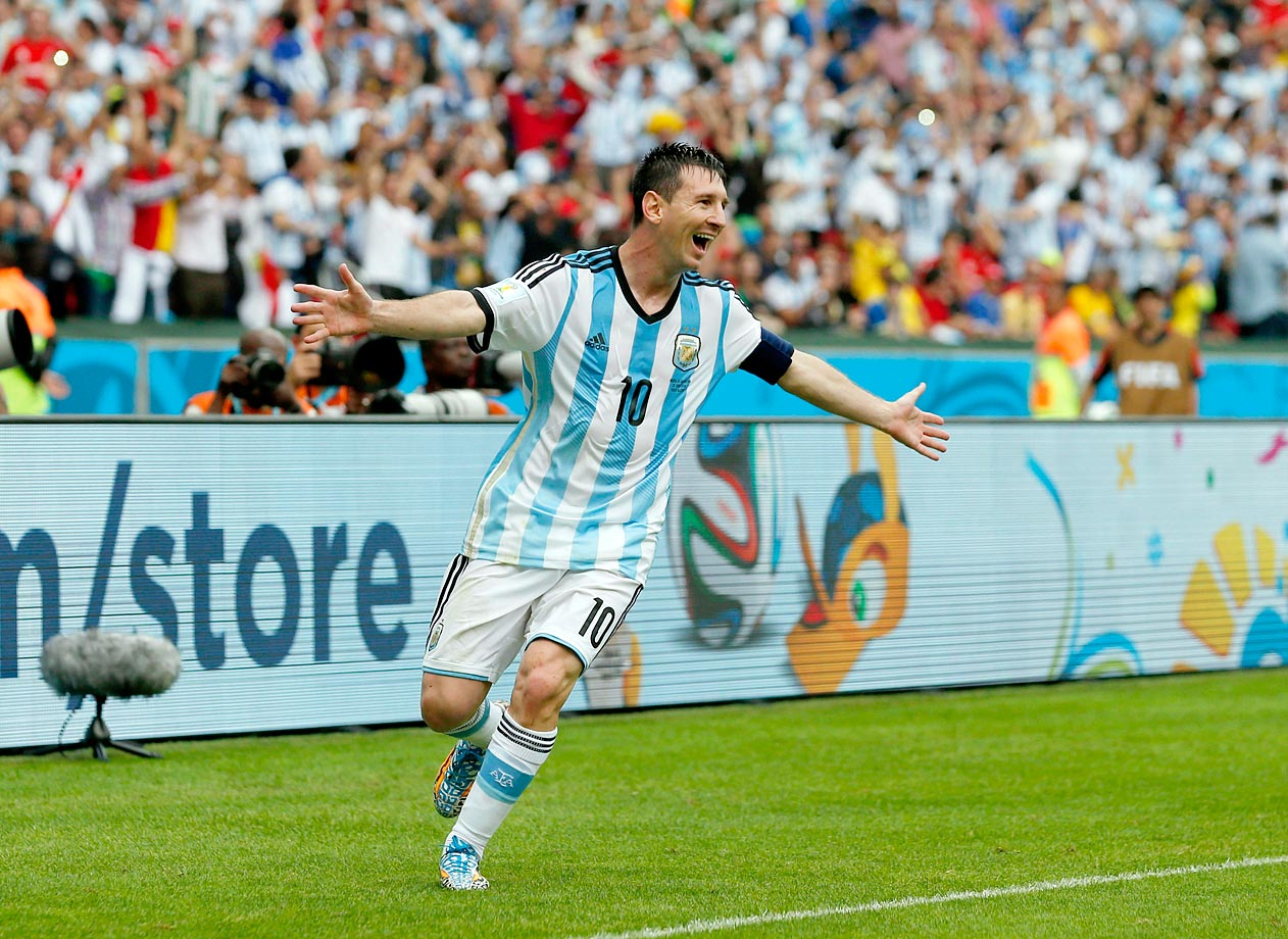 Success can haunt a nation. There are times when it feels there are certain sections of Argentina that cannot fully acclaim Messi until he has done what Diego Maradona did in 1986 and dragged the nation almost single-handedly to glory. At the moment, though, he is doing just that. He scored vital and brilliant goals against both Bosnia-Herzegovina and Iran, and added two more, one of them a stunning free-kick, against Nigeria. Given the pressure he's under, his performances have been stunning.