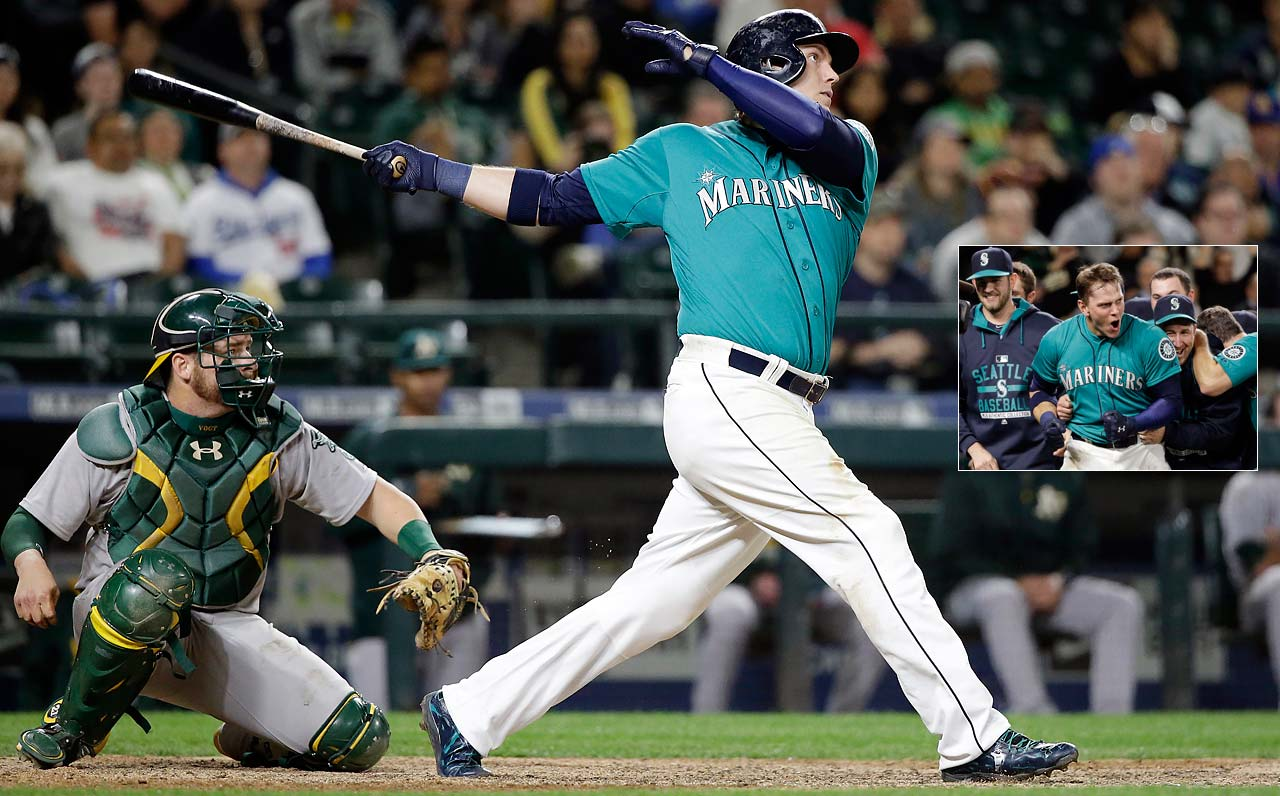 Logan Morrison's walk-off home run in the 11th inning of a May 8 game against the Oakland Athletics gave Seattle a 4-3 win.