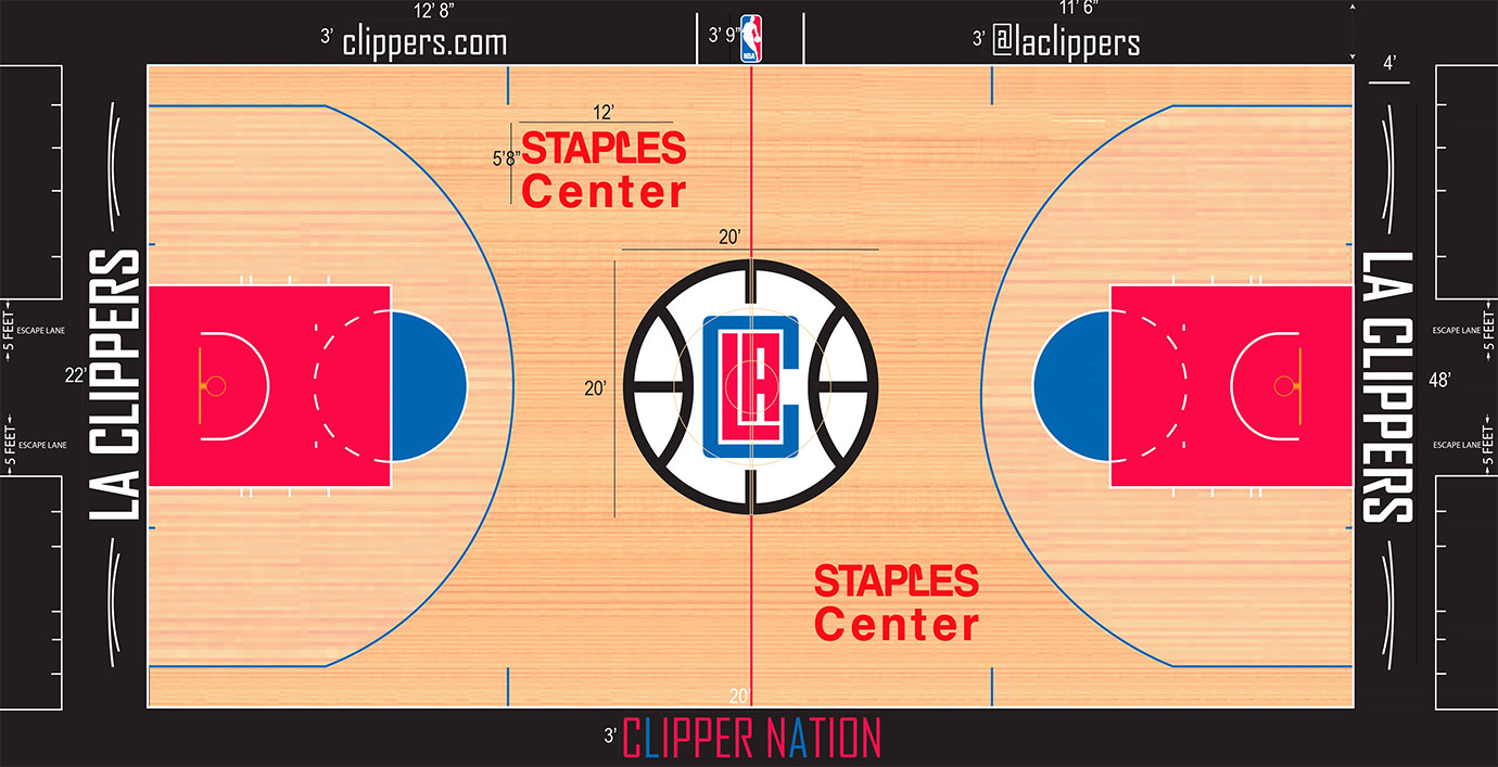 "Much has already been said about the horrific logo the team adopted last summer. But the Clippers made matters worse and slapped the logo at center court and used odd ""nautical"" lines to help adorn the baseline."