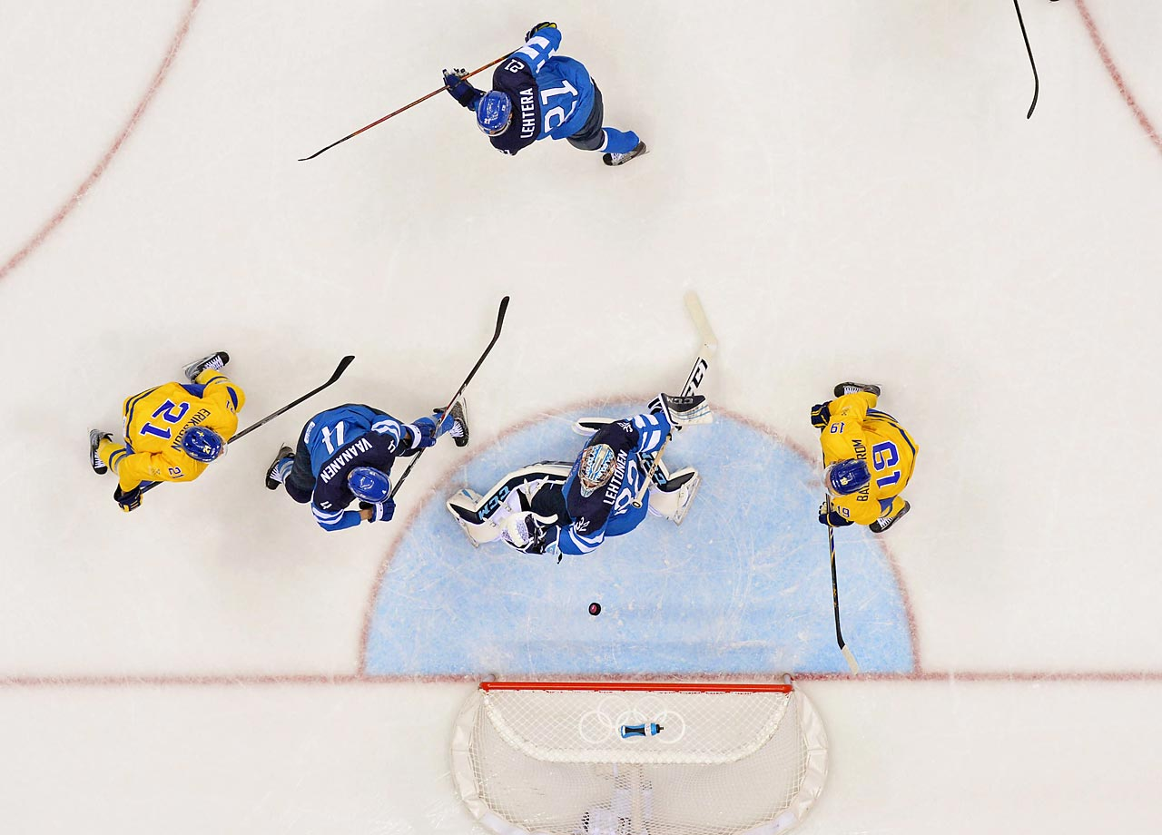 Kari Lehtonen made 23 saves for the Finns while filling in for Tuukka Rask, who didn't play because of an unspecified illness. (AP)