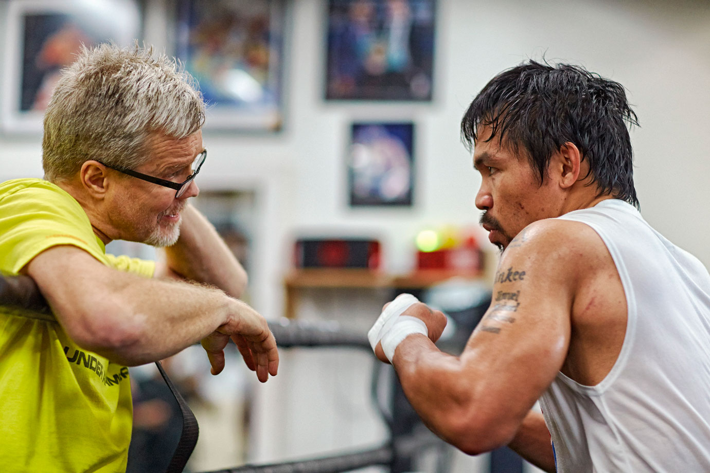 Trainer Freddie Roach has struggled to get Pacquiao to buy in to his strategy for beating Mayweather.