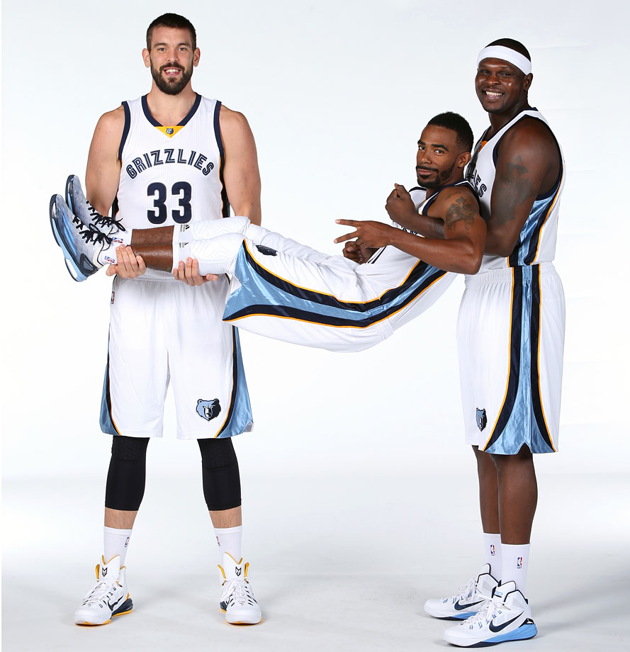 """""""'OK, now how about you guys pick up Mike? Yeah, just kind of hold him like that. OK, big smiles!"""""""