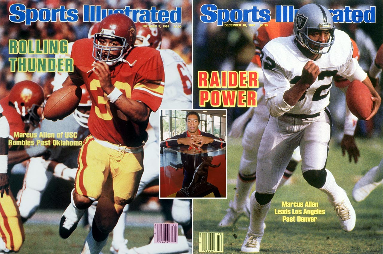 After winning the 1981 Heisman, Allen went on to star with the Raiders and Chiefs. He was the first to compile 10,000 rushing and 5,000 receiving yards. A six-time Pro Bowl back, he finished with a then-record 123 rushing touchdowns among his 145 total touchdowns.